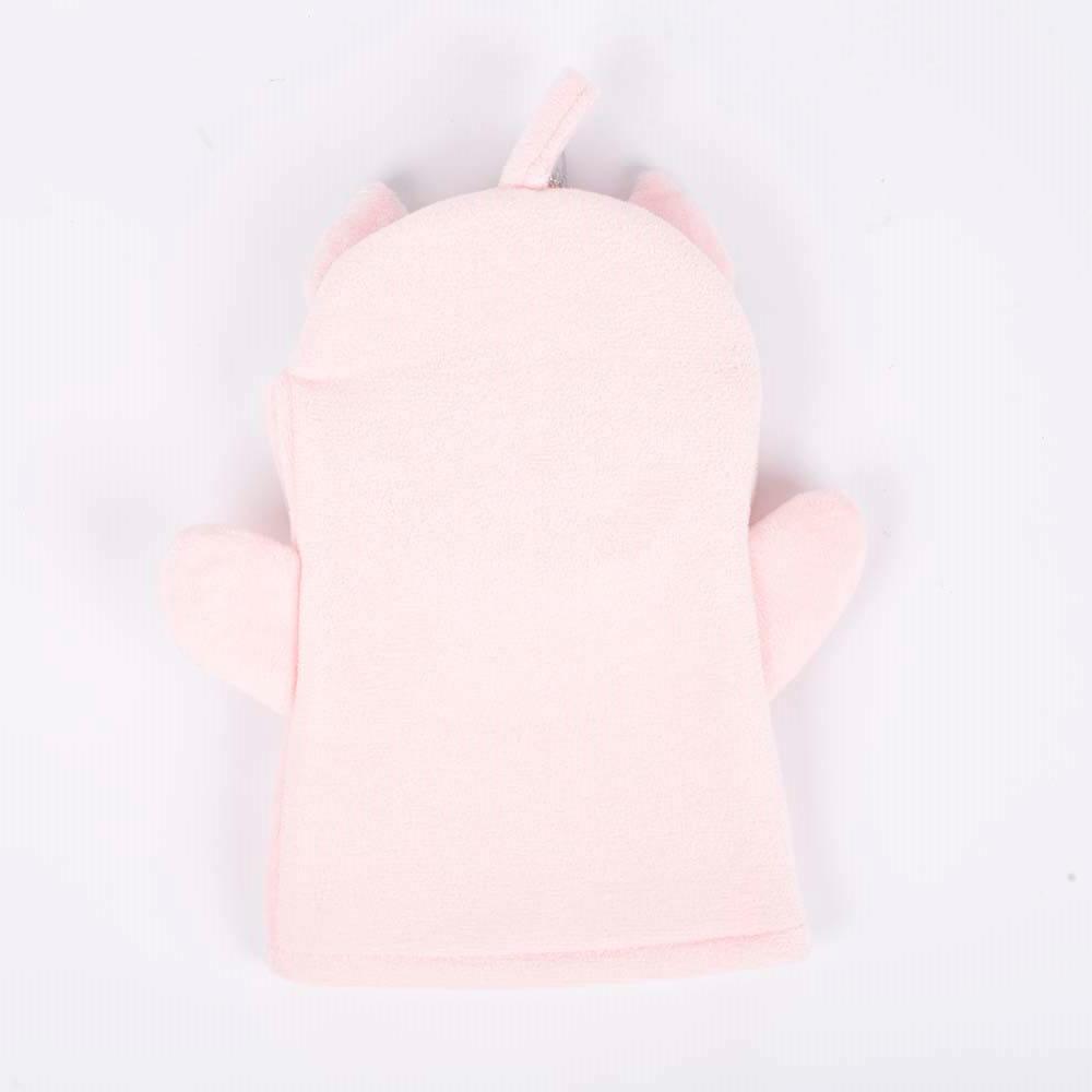 bathmate baby bath glove polyester unicorn pink dc-bm007c