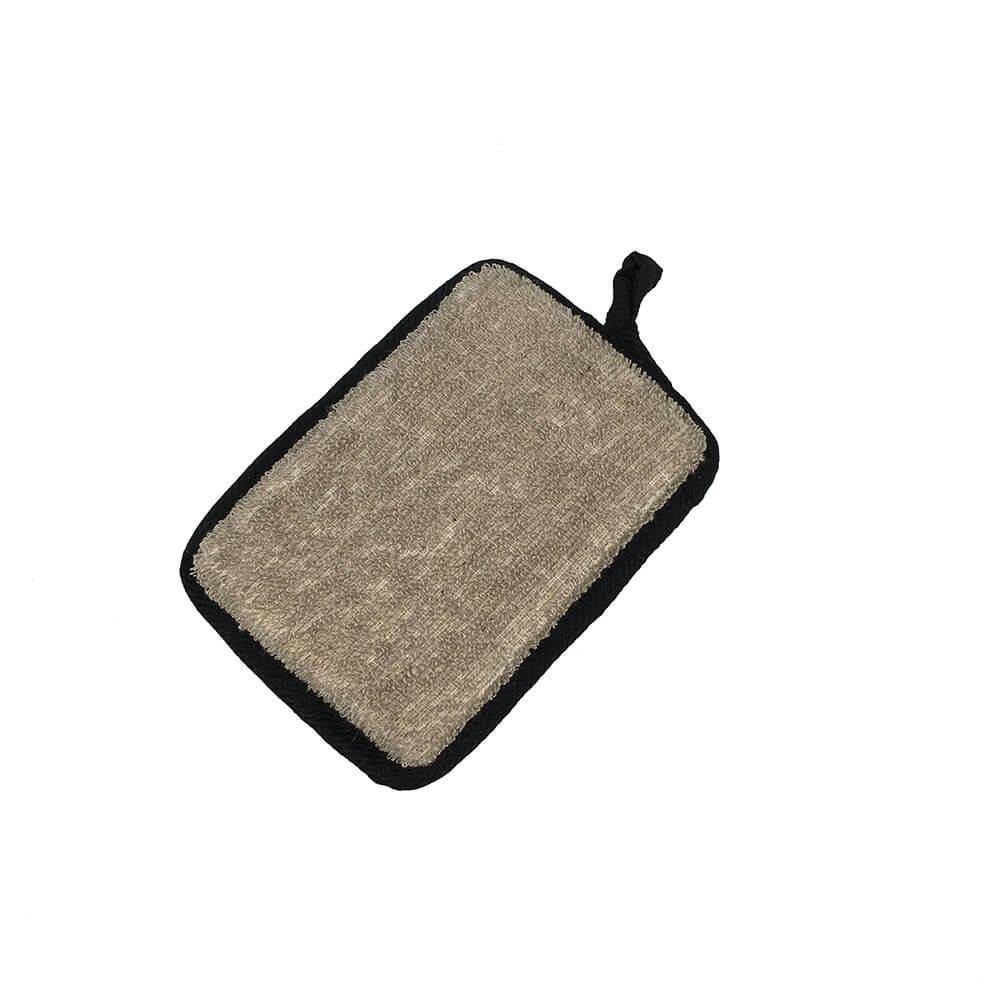 linen bath sponge pad